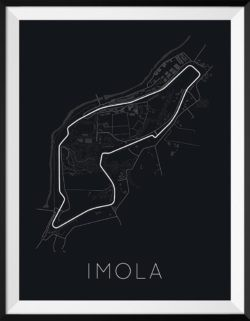 Imola Track Poster F1 Art Print - Rear View Prints