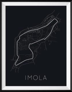 Imola Track Poster F1 Art Print - Rear View Prints