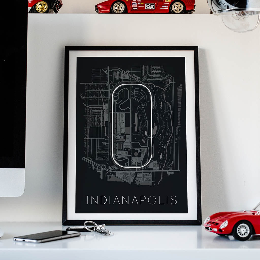 The Brickyard - Indianapolis Motor Speedway Race Track Poster