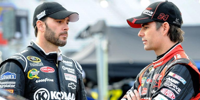 best nascar drivers of all time, jimmie johnson and jeff gordon talking