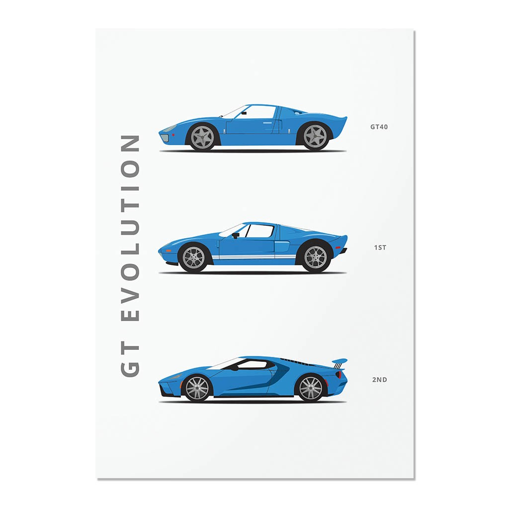 Ford GT Car Black /& White Picture Wall Art Photo Print Poster A3 A4