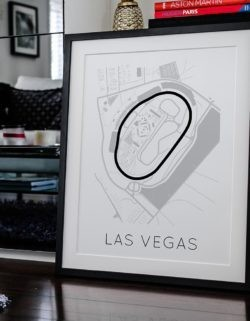 Las Vegas Track Poster F1 Art Print - Rear View Prints