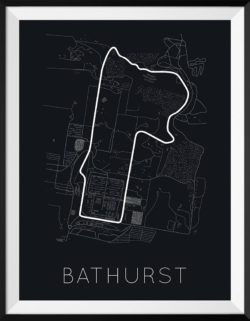 Bathurst Track Poster F1 Art Print - Rear View Prints