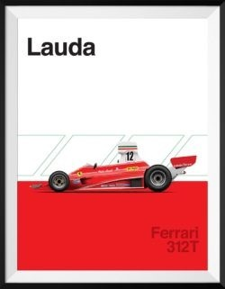 Ferrari 312T F1 Poster Car Art Print - Rear View Prints