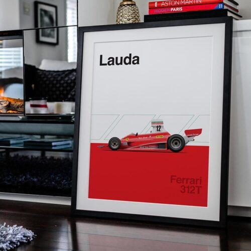 Ferrari 312T F1 Poster Car Art Print - Rear View Prints