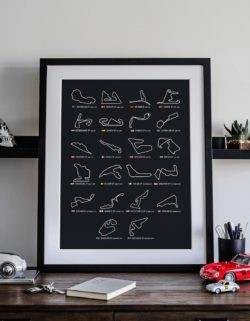 F1 Calendar 2020 Poster Art Print - Rear View Prints