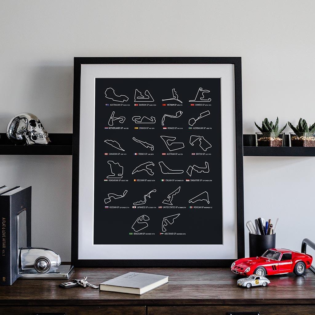 Buy 2020 Calendar F1 Poster Art Print • Rear View Prints