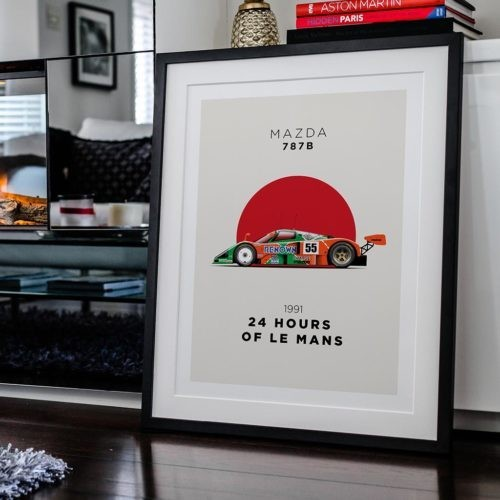 Mazda 787b Motorsport Poster Car Art Print - Rear View Prints