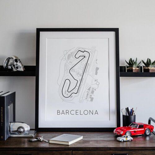 Barcelona Track Poster F1 Art Print - Rear View Prints