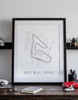 Red Bull Ring Track Poster F1 Art Print - Rear View Prints
