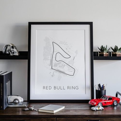 Red Bull Ring Track Poster F1 Art Print - Rear View Prints