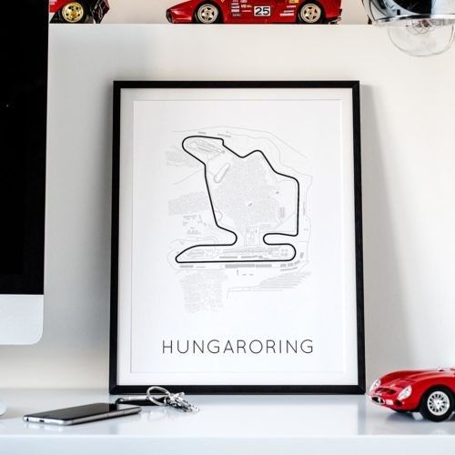 Hungaroring Track Poster F1 Art Print - Rear View Prints
