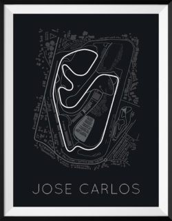 Jose Carlos Track Poster F1 Art Print - Rear View Prints