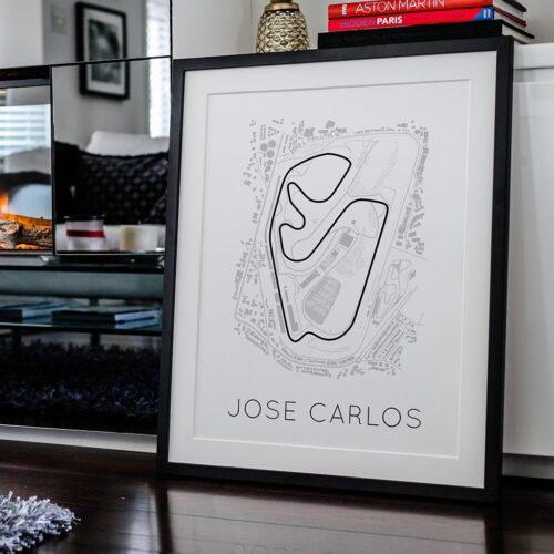 Jose Carlos Track Poster F1 Art Print - Rear View Prints