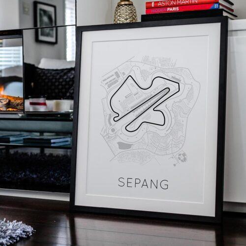 Sepang F1 Track Poster Art Print - Rear View Prints